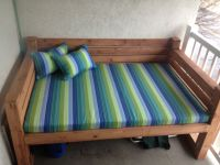 custom sunbrella daybed cushion & pillows