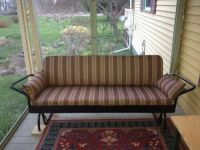Porch Glider in Sunbrella Davidson Redwood Fabric
