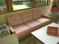 Sunroom Re-Do With Custom Seat And Back Cushions