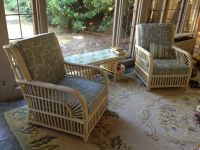 Wicker Chairs and Cushions in Our Sun Room