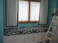 Zebra Window Seat Cushion for Daughter's Room