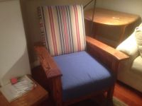 Mission Chair With Custom Seat Cushions