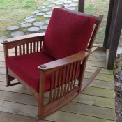 custom cushions for home-made rocking chair