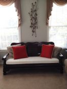 Redwood Couch Makeover With Custom Cushion