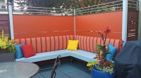 Custom Sunbrella Bench Back Cushions