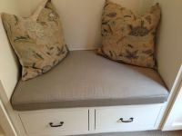 Custom Sunbrella Mudroom Bench Cushion