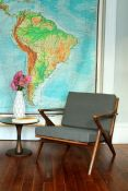 Mid-Century Modern Chair & New Sunbrella Cushions