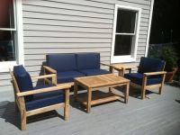 Custom Vinyl Outdoor Deep Seat Cushions