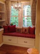 Comfy Custom Sunbrella Window Seat Cushion