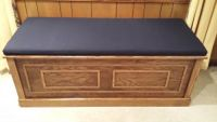 Sunbrella Navy Storage Bench Cushion