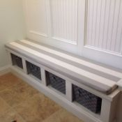 Hallway Bench Cushion In Sunbrella Stripe