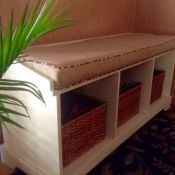 Custom Sunbrella Entry Bench Cushion