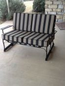 Updated Patio Glider - Custom Sunbrella Cushions