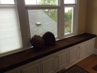 Chocolate Velvet Window Seat Cushions