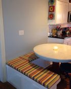 Kitchen Remodel With Sunbrella Bench Cushions