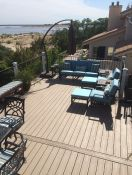 Iron Patio Furniture With New Sunbrella Cushions