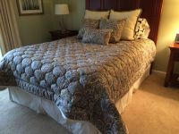 Custom Coverlet, Bed Skirt & Throw Pillows