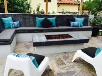 Custom Sunbrella Firepit Bench Cushions & Pillows