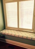 Perfect Window Seat Cushion In Al Fresco Fabric