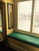 Beautiful Custom Sunbrella Window Seat Cushion