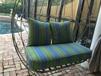 Antique Swing & New Sunbrella Cushion & Pillows