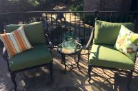 Iron Deep Seat Patio Chair Cushions - Sunbrella