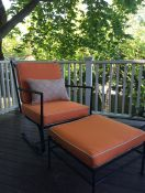 Old Chair & Ottoman With New Sunbrella Cushions