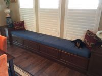 Beautiful Blue Sunbrella Window Bench Cushion