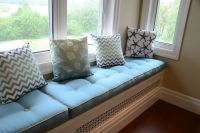 Sunbrella Button-Tufted Window Seat Cushions
