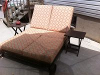 Sunbrella Double Chaise Lounge Cushion On Patio