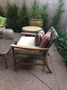 custom sunbrella patio chair cushion & pillows