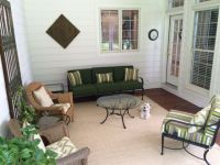 New Custom Sunbrella Cushions On Screen Porch