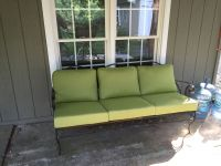 Outdoor Iron Sofa & Sunbrella Cushions