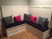 Kitchen Nook Bench Cushions In Sunbrella Navy