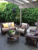 Backyard Retreat With Robert Allen Wicker Cushions