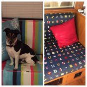 Custom Made Boat Cushions: Before and After