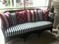New Sunbrella Wicker Porch Sofa Cushion