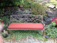Outdoor Bench Cushion in Sunbrella Dupione Henna