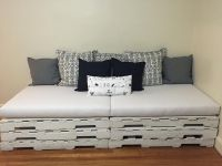 Pallet Couch - New Cushions From Customer's Fabric