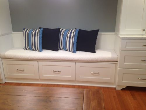 Kitchen Banquette Bench Cushion And Throw Pillows Customer Photo