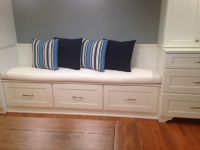 Kitchen Banquette Bench Cushion And Throw Pillows