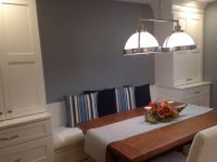 Banquette Dining Area With New Cushions & Pillows