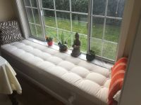 Button-Tufted Window Bench Cushion