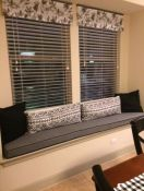Grey Sunbrella Window Seat Cushion With Welt