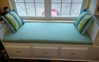 Sunbrella Spectrum Mist Window Seat Cushion