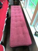 Long Button-Tufted Bench Cushion