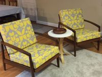 Mid-Century Chair Cushions With Customer's Fabric