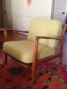 Mid Century Modern Lounge Chair Custom Cushions
