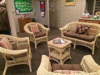 Ladies Locker Room With Sunbrella Wicker Cushions