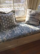 Sunny Window Seat Cushions In Robert Allen Fabric